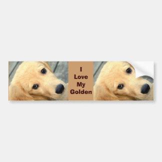 Innocent Abby - I Love My Golden Bumper Sticker