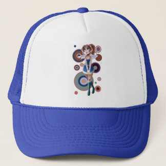 Innocent Angel Girl Circles Design Trucker Hat