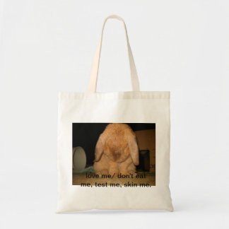innocent  bunny tote bags