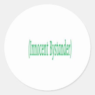 Innocent Bystander Classic Round Sticker