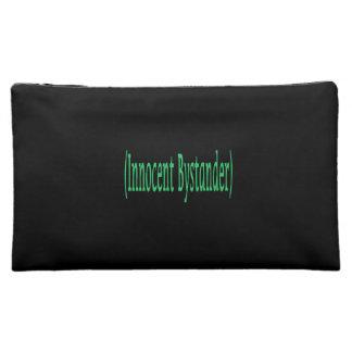 Innocent Bystander - on black background Makeup Bag