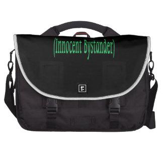 Innocent Bystander - on black background Laptop Commuter Bag