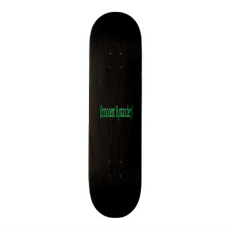 Innocent Bystander - on black background Skate Deck