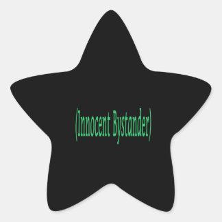 Innocent Bystander - on black background Star Sticker