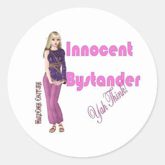 Innocent Bystander... Yah Think Sticker