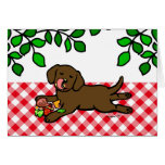 Innocent Chocolate Labrador Puppy Greeting Cards