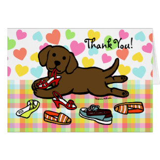 Innocent Chocolate Labrador Puppy Thank You Card