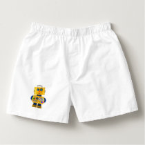 Innocent looking toy robot boxers