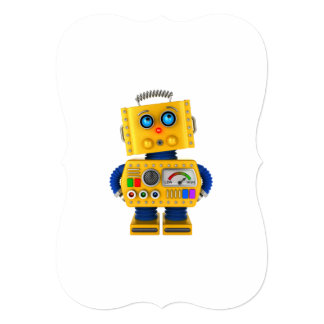 Innocent looking toy robot card