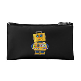 Innocent looking toy robot cosmetic bag