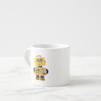 Innocent looking toy robot espresso cup