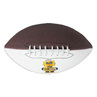 Innocent looking toy robot football