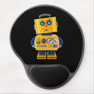 Innocent looking toy robot gel mouse pad