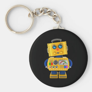 Innocent looking toy robot keychain