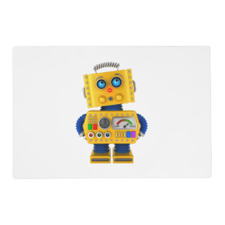 Innocent looking toy robot placemat