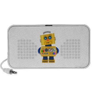 Innocent looking toy robot portable speaker