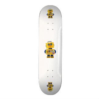 Innocent looking toy robot skateboard deck