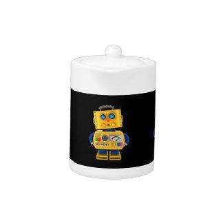 Innocent looking toy robot teapot