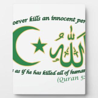 Innocent Person Plaque