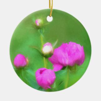 Innocent Pink Buds Ceramic Ornament