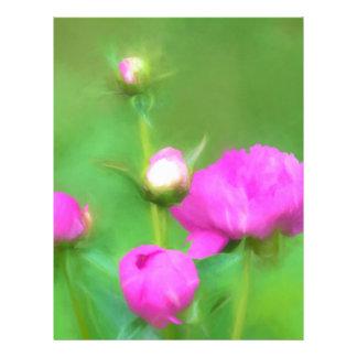 Innocent Pink Buds Letterhead