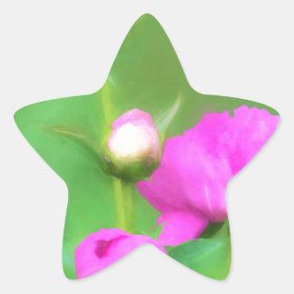 Innocent Pink Buds Star Sticker