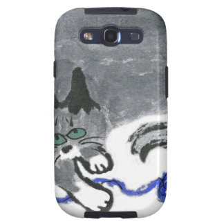 Innocent says Ears the gray cat Samsung Galaxy S3 Covers