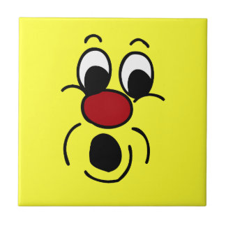 Innocent Smiley Face Grumpey Ceramic Tile