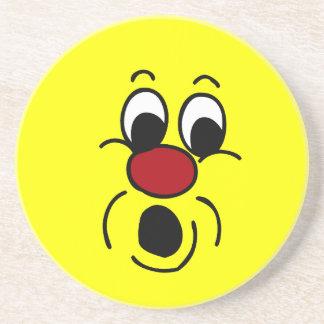 Innocent Smiley Face Grumpey Coaster