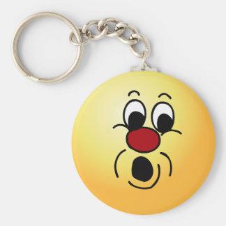 Innocent Smiley Face Grumpey Keychain