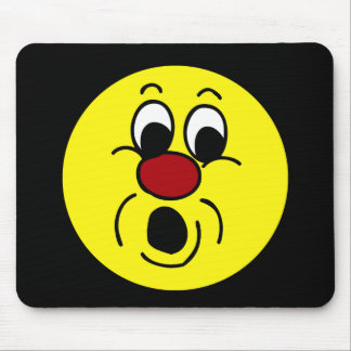 Innocent Smiley Face Grumpey Mouse Pad