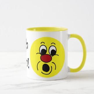 Innocent Smiley Face Grumpey Mug