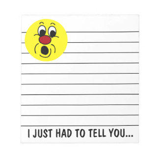 Innocent Smiley Face Grumpey Notepad