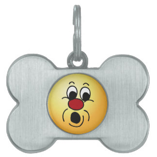 Innocent Smiley Face Grumpey Pet Name Tag