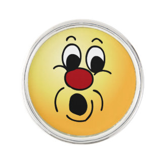 Innocent Smiley Face Grumpey Pin