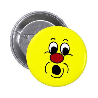 Innocent Smiley Face Grumpey Pinback Button