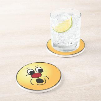 Innocent Smiley Face Grumpey Sandstone Coaster
