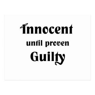 Innocent Until Proven Guilty Postcard