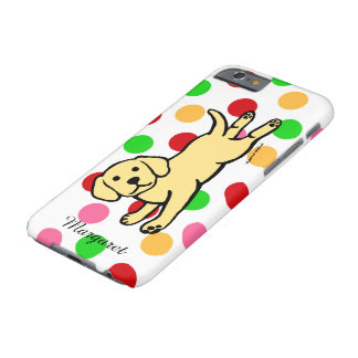 Innocent Yellow Labrador Puppy Cartoon Barely There iPhone 6 Case