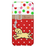 Innocent Yellow Labrador Puppy Cartoon Cover For iPhone 5C