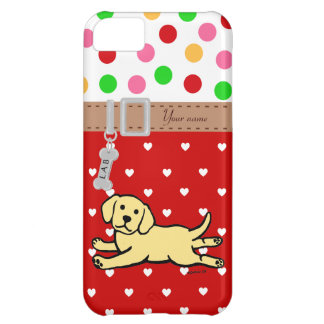 Innocent Yellow Labrador Puppy Cartoon iPhone 5C Case
