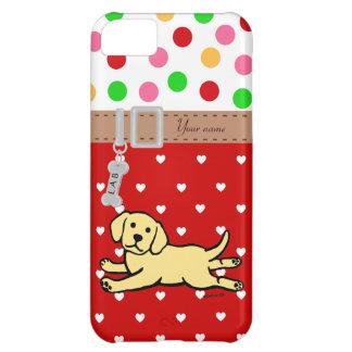 Innocent Yellow Labrador Puppy Cartoon iPhone 5C Cover