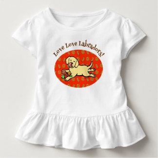 Innocent Yellow Labrador Puppy Cartoon Toddler T-shirt