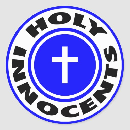 Innocents santos etiqueta redonda