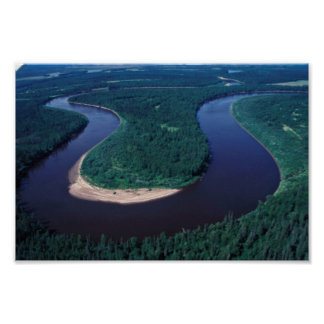 Innoko Refuge Meandering River Poster