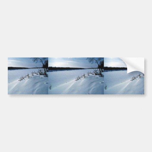 Innoko River in Winter Car Bumper Sticker