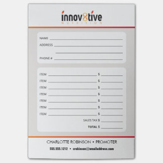 Innov8tive Nutrition Post-it Notes