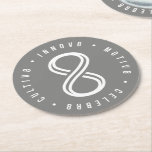 """Innov8tive Round Paper Coaster<br><div class=""""desc"""">These coasters feature the innov8tive &quot;8&quot; graphic and our mottos of CULTIV8,  INNOV8,  MOTIV8 AND CELEBR8.</div>"""