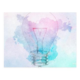 Innovación de la creatividad y del negocio como tarjeta postal