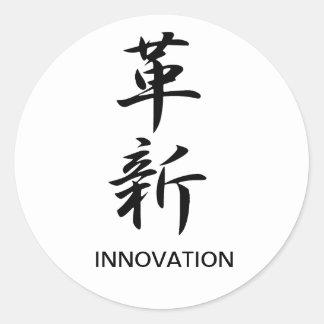 Innovación - Kakushin Etiqueta Redonda